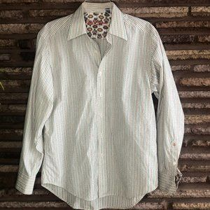 Robert Graham Variegated Stripe Flip Cuff Shirt